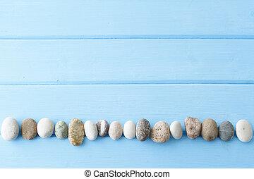 ライト, 石, 上に, 木製である, 黒檀, 木, 背景