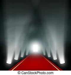 ライト, 端, corridor.