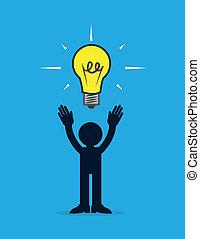 ライト, 考え, 数字, 電球
