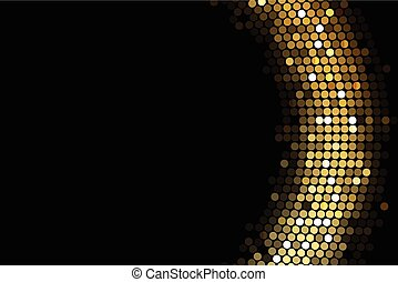 ライト, 背景, 金