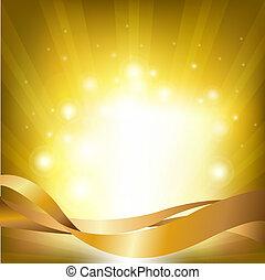 ライト, 背景, sunburst