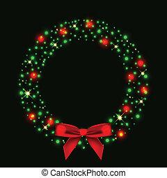 ライト, 花輪, クリスマス