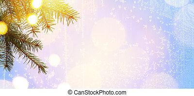 ライト, 芸術, クリスマス, 木, ホリデー