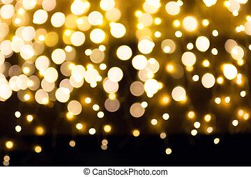 ライト, 芸術, クリスマス, 背景, ホリデー