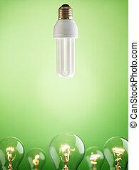 ライト, 蛍光, クローズアップ, 電球