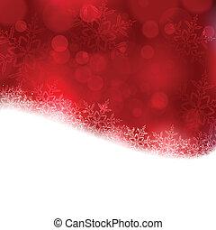 ライト, 赤い背景, blurry, クリスマス