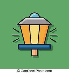 ライト, 通り, アイコン