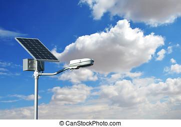 ライト, 通り, 太陽 パネル