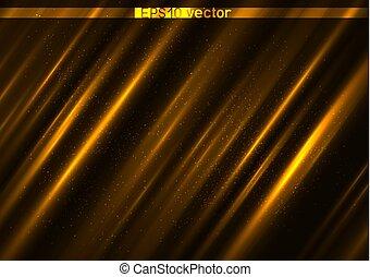 ライト, 金, 表面, 背景, 照ること