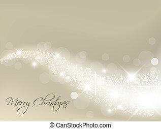 ライト, 銀, 抽象的, クリスマス, 背景