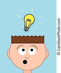 ライト, 頭, 考え, 電球