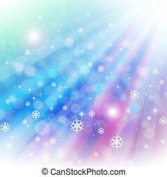 ライト, bokeh, クリスマス, 背景
