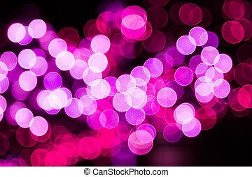 ライト, bokeh, 背景, カラフルである, お祝い