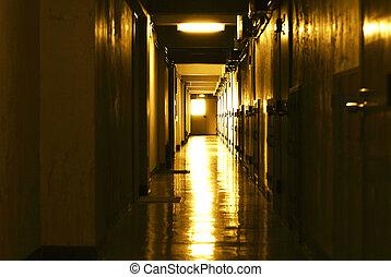 ライト, design., 廊下, 要素