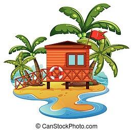 ライフガード, 家, 浜 場面