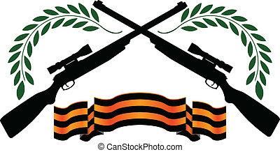 ライフル銃, リボン, georgievsy, 狙撃兵