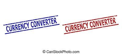 ライン, スタイル, 変換器, 通貨, grunged, 平行, 切手, シール