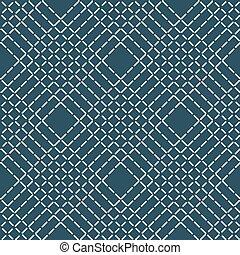 ライン, パターン, 抽象的, seamless, 青い白, rhombuses, バックグラウンド。, ベクトル, 手ざわり, 幾何学的