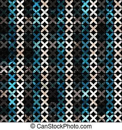 ライン, 抽象的, グランジ, seamless, パターン