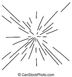 ライン, 抽象的, 爆発, 放射状, 爆発, 放射, 花火, 効果