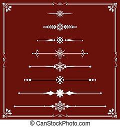 ライン, 規則, クリスマス