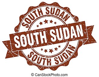 ラウンド, 南, リボン, シール, スーダン