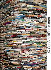 ラウンド, 本 棚, 中に, ∥, ホール, の, 市の, 図書館, の, プラハ, 中に, チェコ,...
