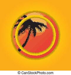 ラウンド, banner., 夏, 形