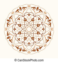 ラウンド, pattern., 装飾用