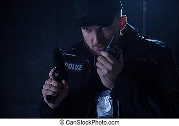 ラジオ, 銃, 保有物, 警官