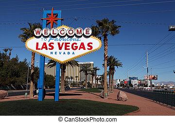 ラスベガス, すばらしい, 歓迎された 印