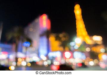ラスベガス, ぼやけた背景, 夜