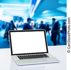 ラップトップ・コンピュータ, 背景, ビジネス 人々