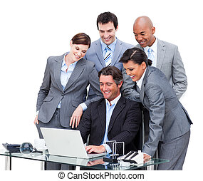 ラップトップ, 共同経営者, 仕事, 多民族, 集中される