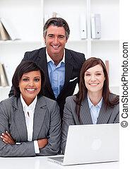 ラップトップ, 共同経営者, 仕事, competive, 多民族