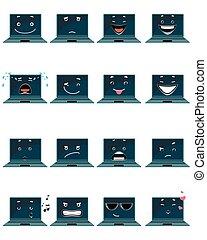 ラップトップ, 16, emojis