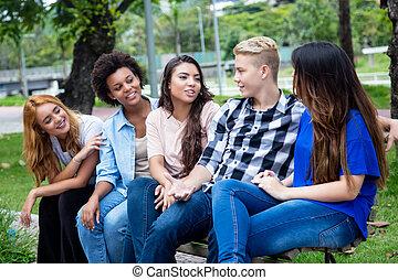 ラテン語, グループ, 成人, 若い, 話し, アメリカ人, アフリカ