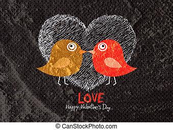ラブ羽の鳥, カード, 結婚式