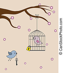 ラブ羽の鳥