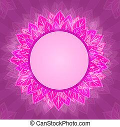ラベル, カード, 背景, 花, 紫色, ピンク