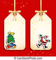 ラベル, クリスマス