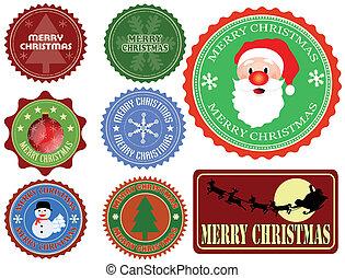 ラベル, セット, クリスマス