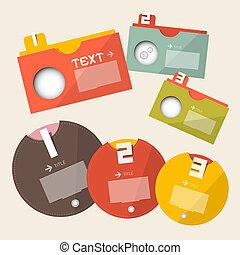 ラベル, -, ベクトル, デザイン, テンプレート, infographics