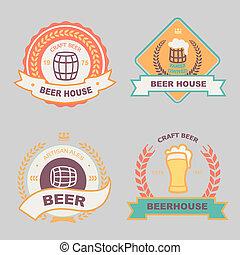 ラベル, ロゴ, bub, ビール, デザイン, バー