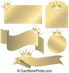 ラベル, 王冠