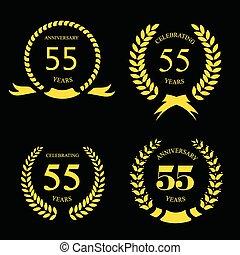 ラベル, 50, 金, 5, 年, 記念日