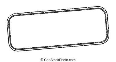 ラベル, stamp., 印。, グランジ, ブランク, 広場