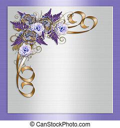 ラベンダー, 招待, 結婚式, 花