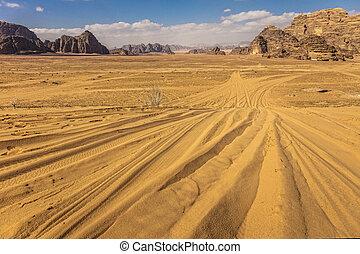 ラム酒, ヨルダン, 砂漠, ワジ