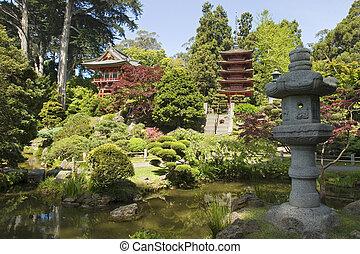ランタン, 日本の庭